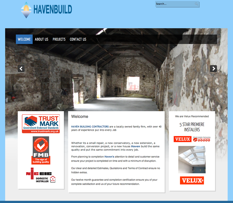 Haven Building Contractors website