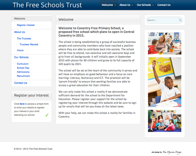 The Free School Trust website