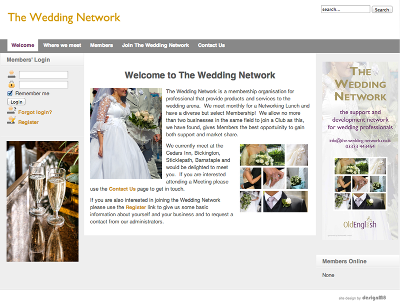 The Wedding Network website